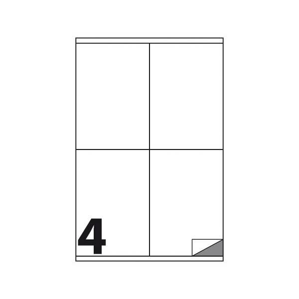 Etichette multifunzione 100 fogli 105 x 140 mm con angoli vivi con margine 4 etichette per foglio Buffetti
