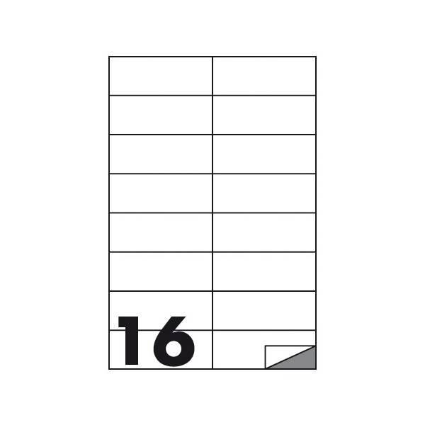 Etichette multifunzione 100 fogli 105 x 37 mm con angoli vivi senza margine 16 etichette per foglio Buffetti