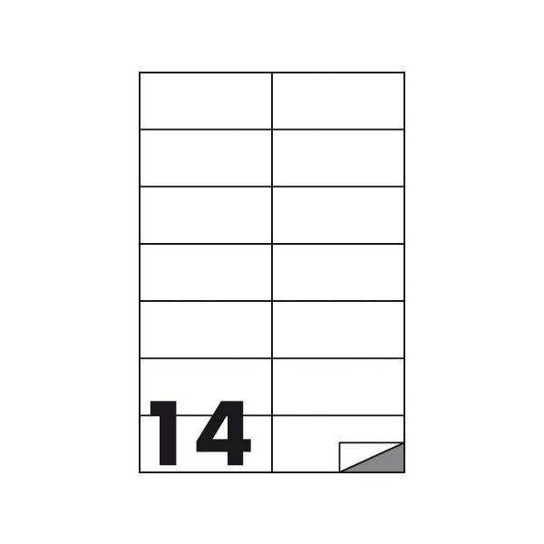Etichette multifunzione 100 fogli 105 x 42 mm con angoli vivi senza margine 14 etichette per foglio Buffetti