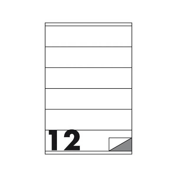 Etichette multifunzione 100 fogli 105 x 48 mm con angoli vivi con margine 12 etichette per foglio Buffetti