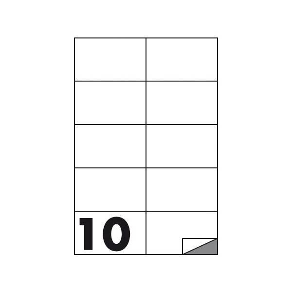 Etichette multifunzione 100 fogli 105 x 59 mm con angoli vivi senza margine 10 etichette per foglio Buffetti