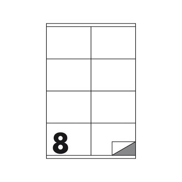 Etichette multifunzione 100 fogli 105 x 72 mm con angoli vivi con margine 8 etichette per foglio Buffetti