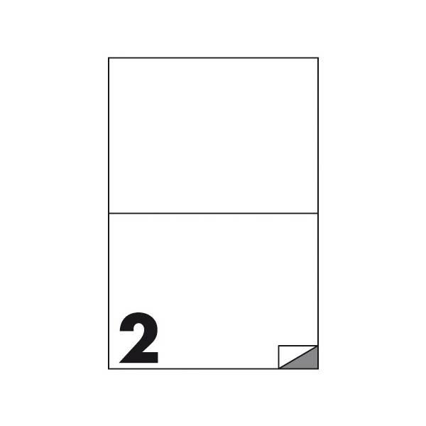 Etichette multifunzione 100 fogli 210 x 148,5 mm con angoli vivi senza margine 2 etichette per foglio Buffetti