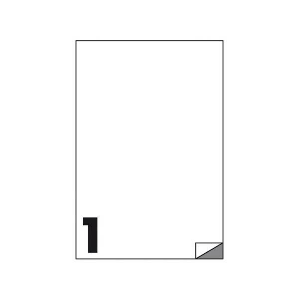 Etichette multifunzione 100 fogli 210 x 297 mm con angoli vivi senza margine 1 etichette per foglio Buffetti