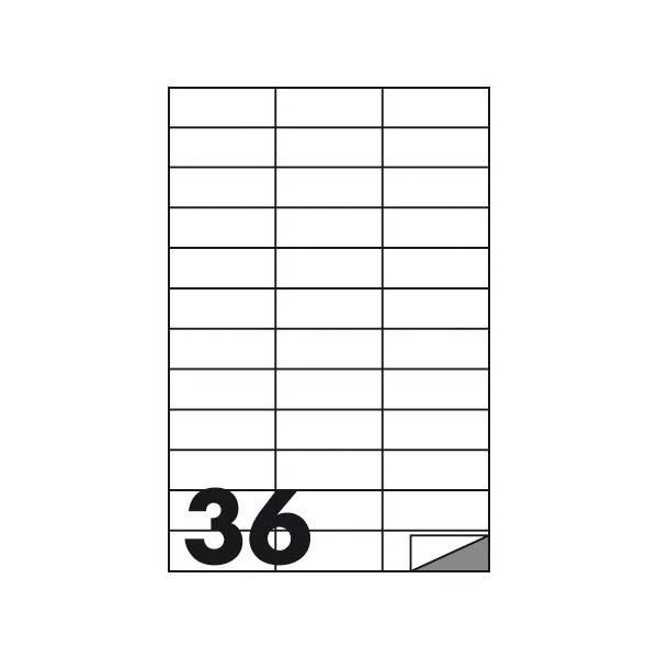 Etichette multifunzione 100 fogli 70 x 25 mm con angoli vivi senza margine 36 etichette per foglio Buffetti