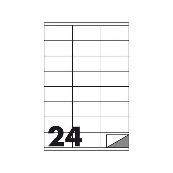 Etichette multifunzione 100 fogli 70 x 36 mm con angoli vivi senza margine 24 etichette per foglio Buffetti