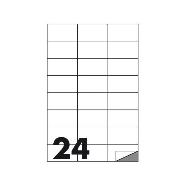 Etichette multifunzione 100 fogli 70 x 37 mm con angoli vivi senza margine 24 etichette per foglio Buffetti
