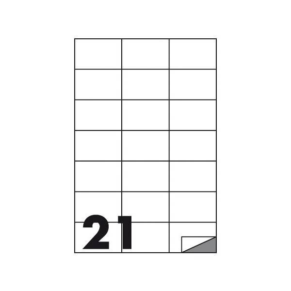 Etichette multifunzione 100 fogli 70 x 42 mm con angoli vivi senza margine 21 etichette per foglio Buffetti