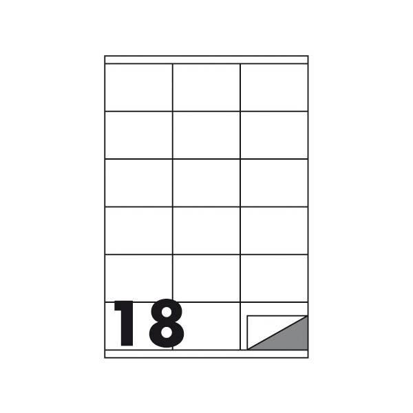 Etichette multifunzione 100 fogli 70 x 48 mm con angoli vivi con margine 18 etichette per foglio Buffetti