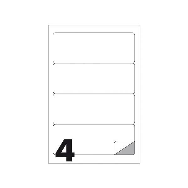 Etichette multifunzione 100 fogli 190 x 61 mm con angoli arrotondati con margine 4 etichette per foglio Buffetti