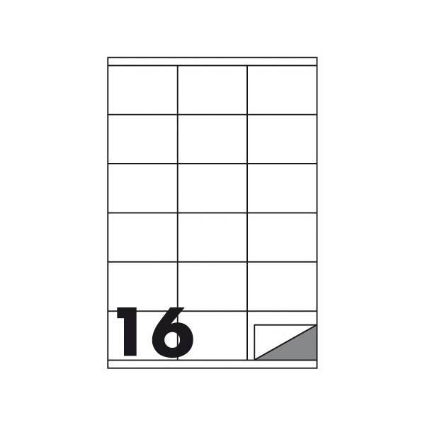 Etichette multifunzione 100 fogli 99,1 x 34 mm con angoli arrotondati con margine 16 etichette per foglio Buffetti