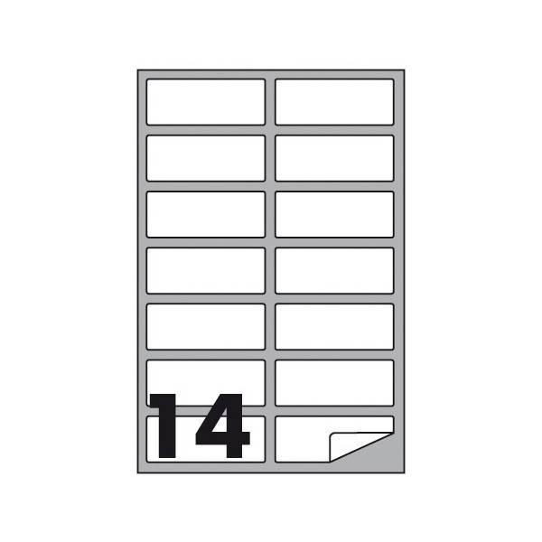 Etichette multifunzione 100 fogli 99,1 x 38,1 mm con angoli arrotondati con margine 14 etichette per foglio Buffetti