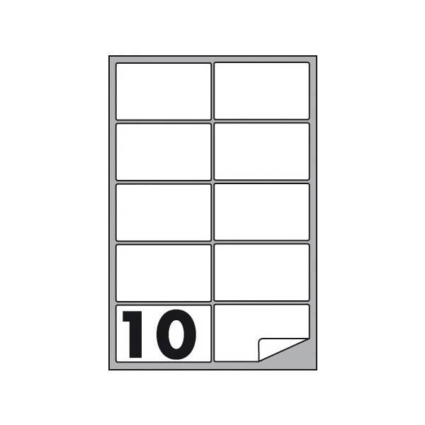 Etichette multifunzione 100 fogli 99,1 x 57 mm con angoli arrotondati con margine 10 etichette per foglio Buffetti