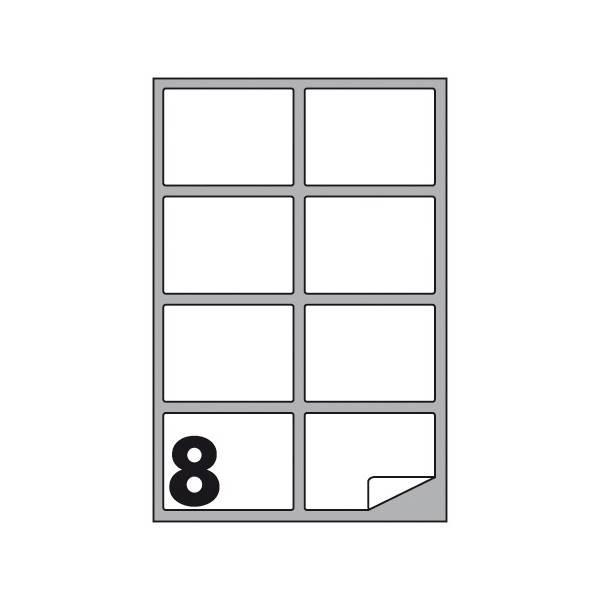 Etichette multifunzione 100 fogli 99,1 x 67,7 mm con angoli arrotondati con margine 8 etichette per foglio Buffetti
