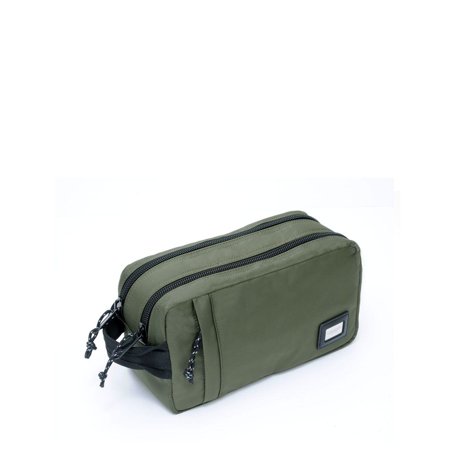 Ag Spalding & Bros Beauty case Heet in Nylon rinforzato Verde