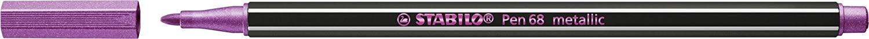 STABILO Pen 68 metallic Pennarello Premium Metallizzato - Astuccio da 6