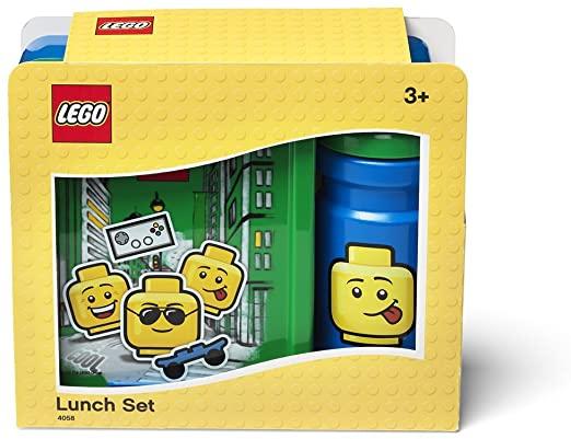 LEGO Portavivande + Borraccia Ironic Boy Blu e Verde