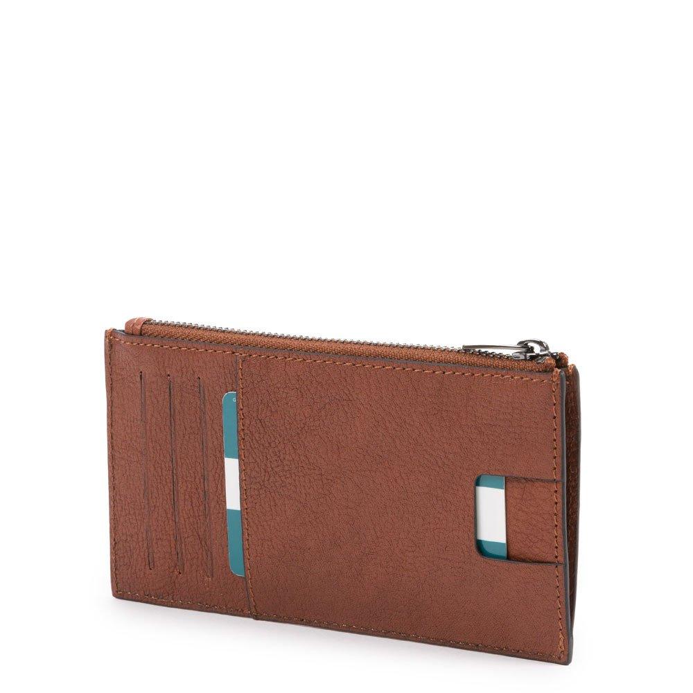 Piquadro Busta sottile porta carte di credito con portamon Black Square