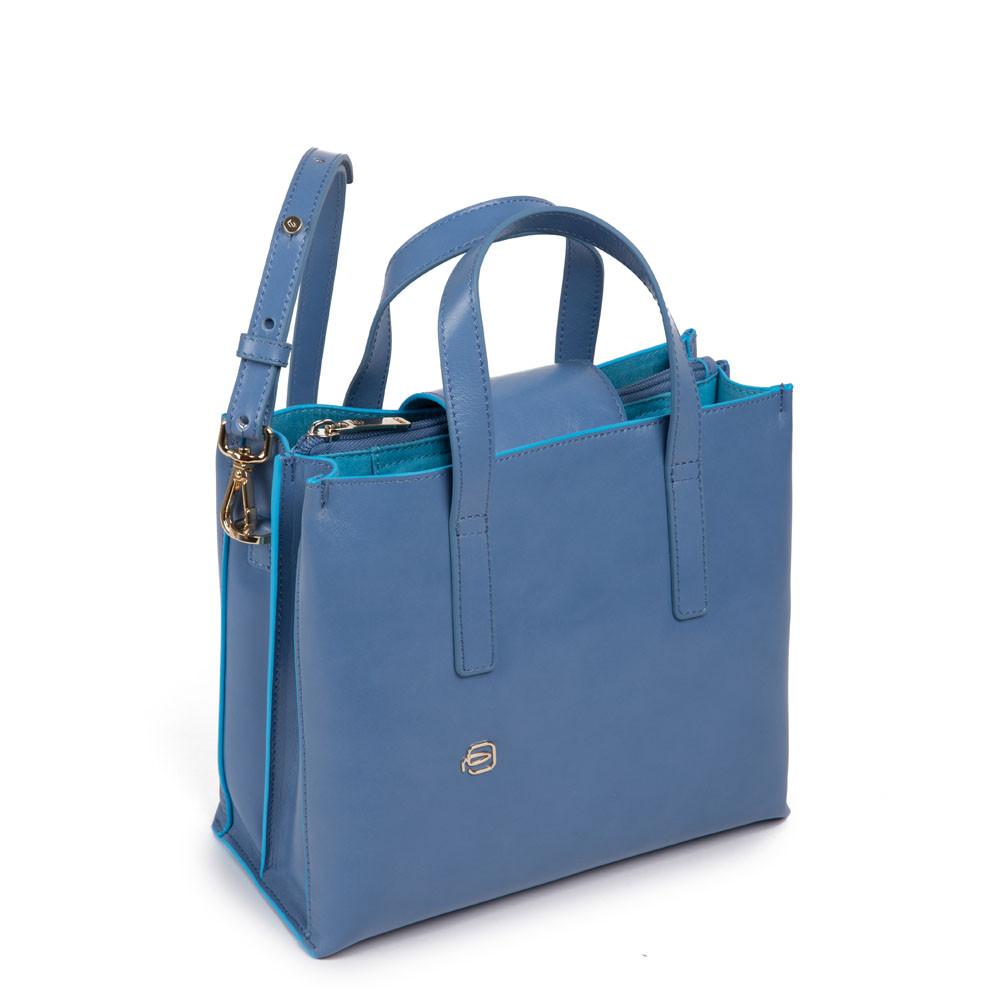 Piquadro Shopping bag con tracolla staccabile Blue Square Rosa Chiaro