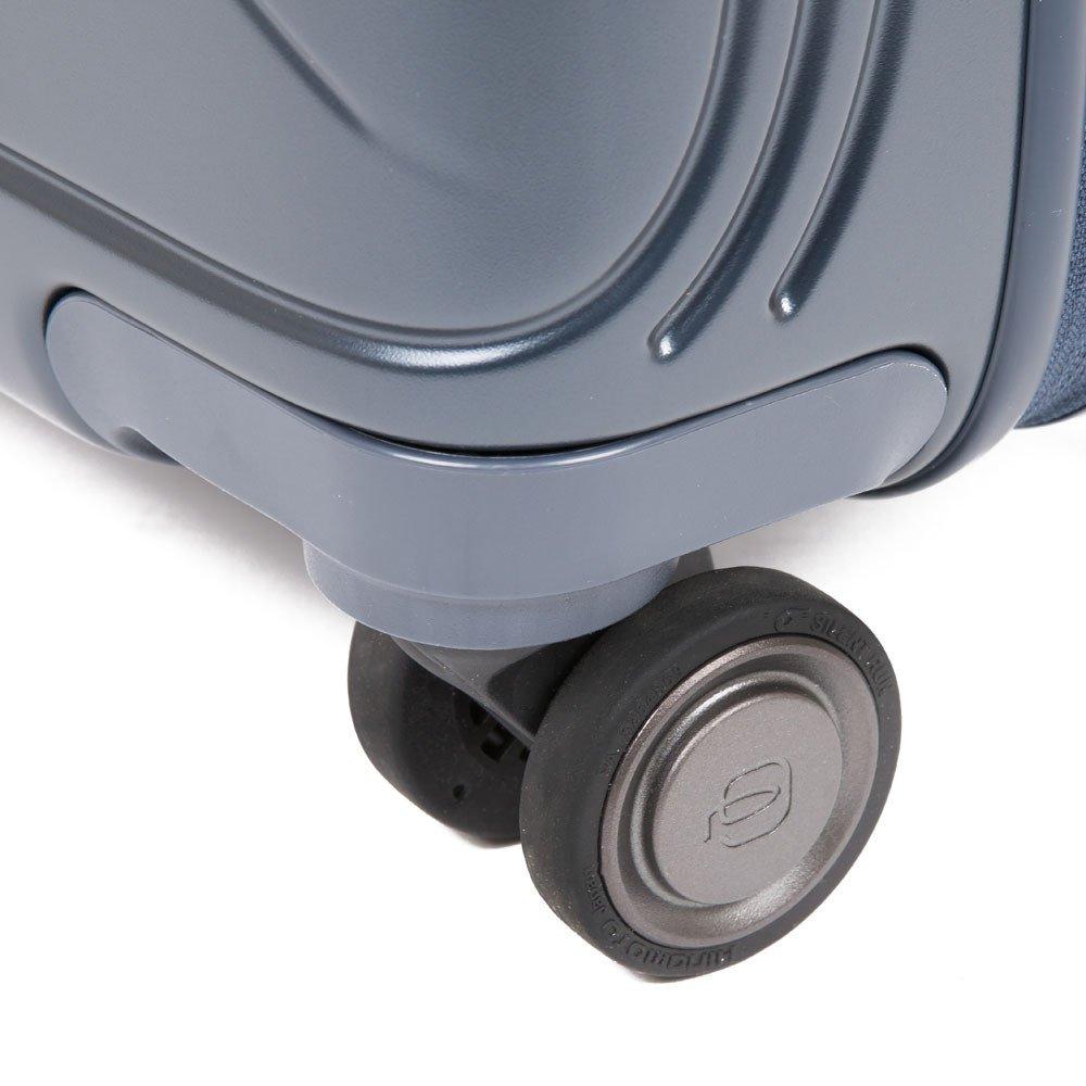 Piquadro Trolley cabina rigido Ultra Slim 4 ruote in policarbonato con pla PiQ Biz Nero