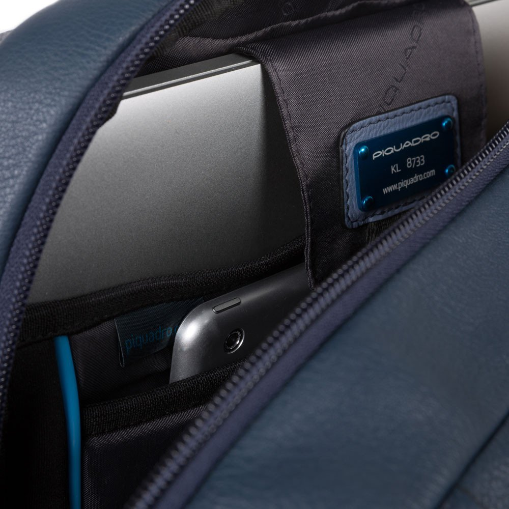 Piquadro Zaino personalizzabile porta PC e porta iPad® con Akron in pelle Nero
