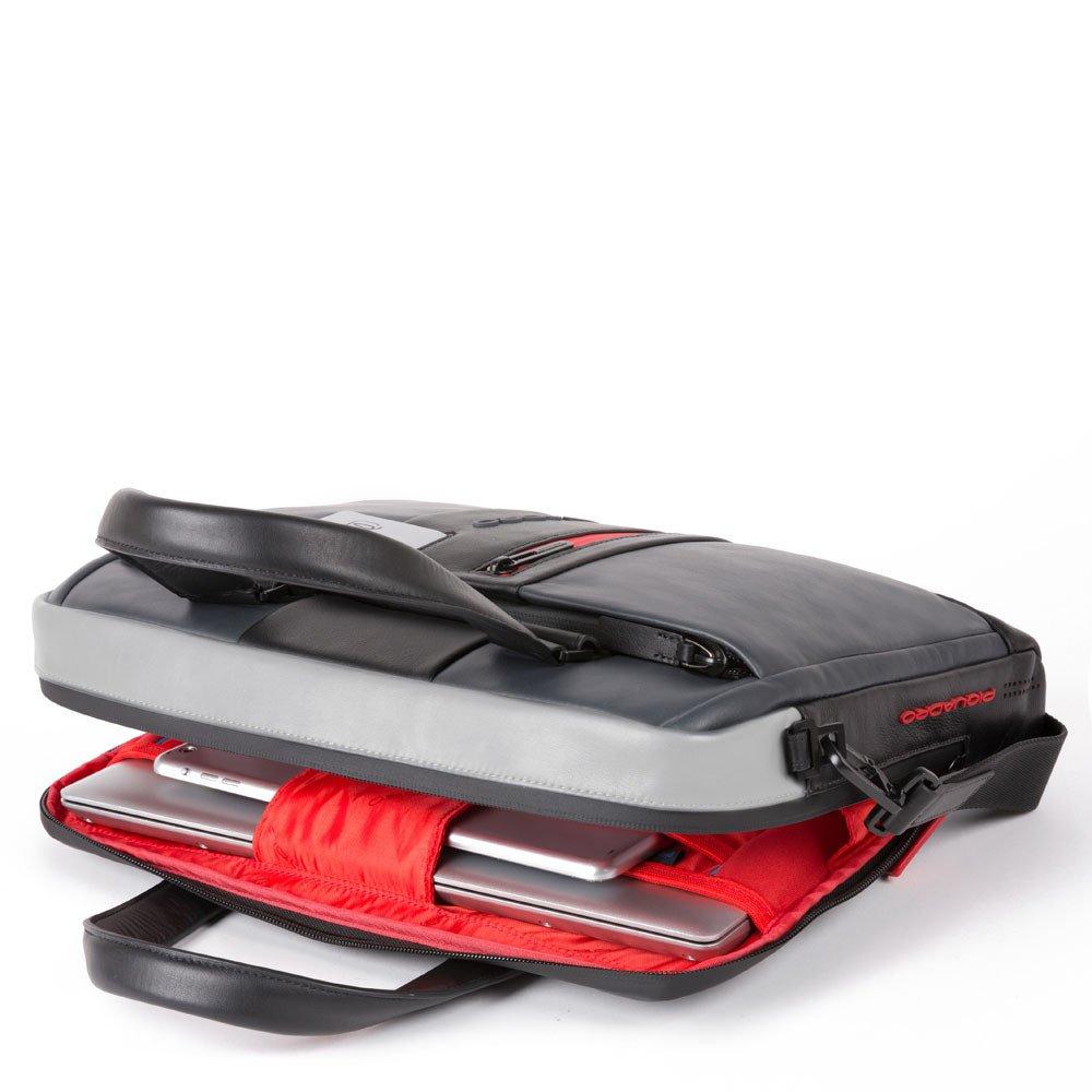 Piquadro Cartella sottile porta computer e porta iPad® Urban in pelle Grigio-Nero