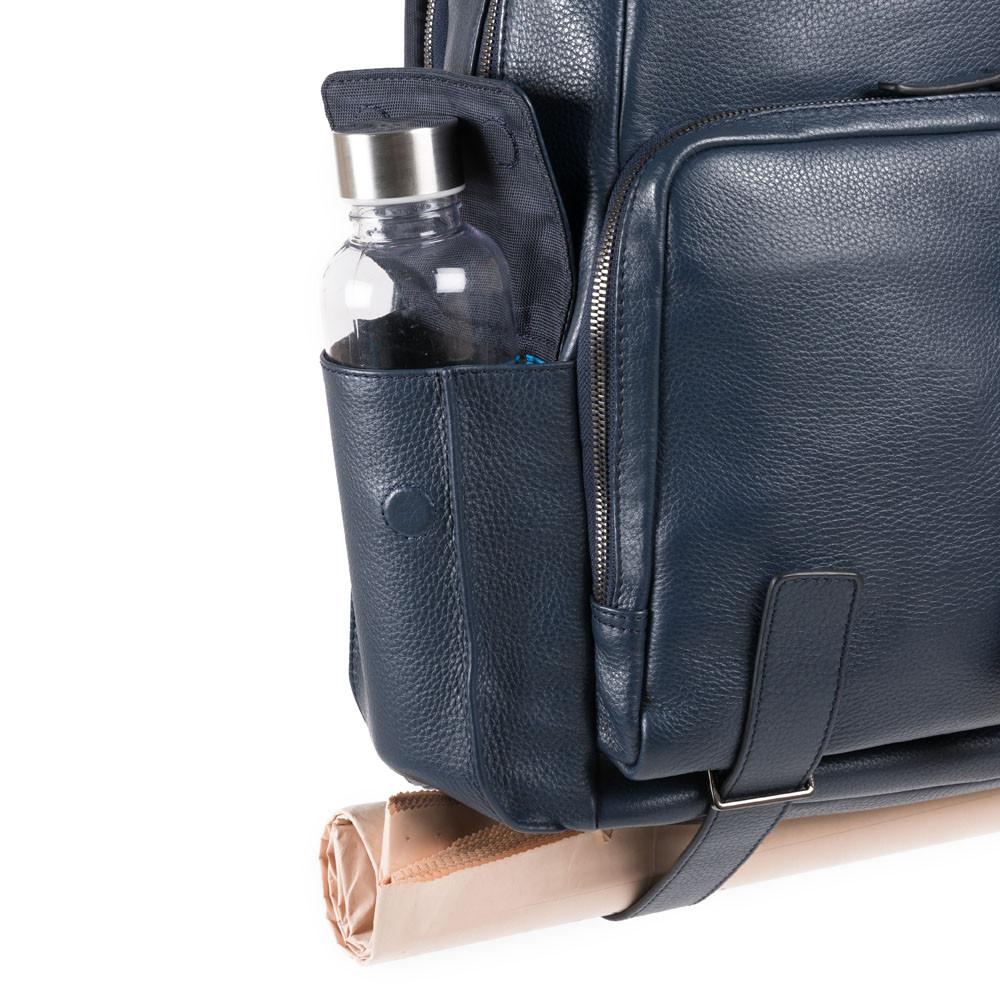 Piquadro Zaino porta PC e porta iPad® con porta bottiglia Collezione MODUS Restyling Blu