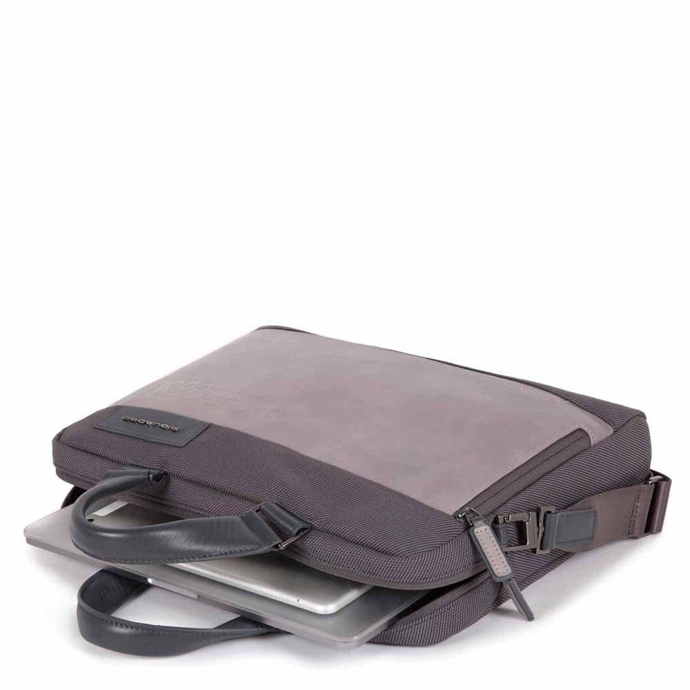 Piquadro Cartella a due manici porta computer e porta iPad® Ade Nera