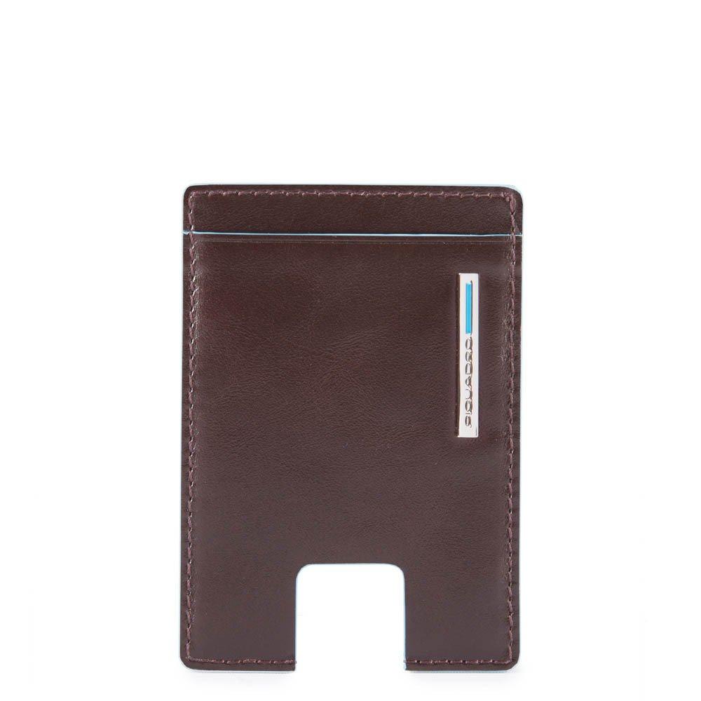 Piquadro Porta carte di credito con estrazione facilitata Blue Square Mogano