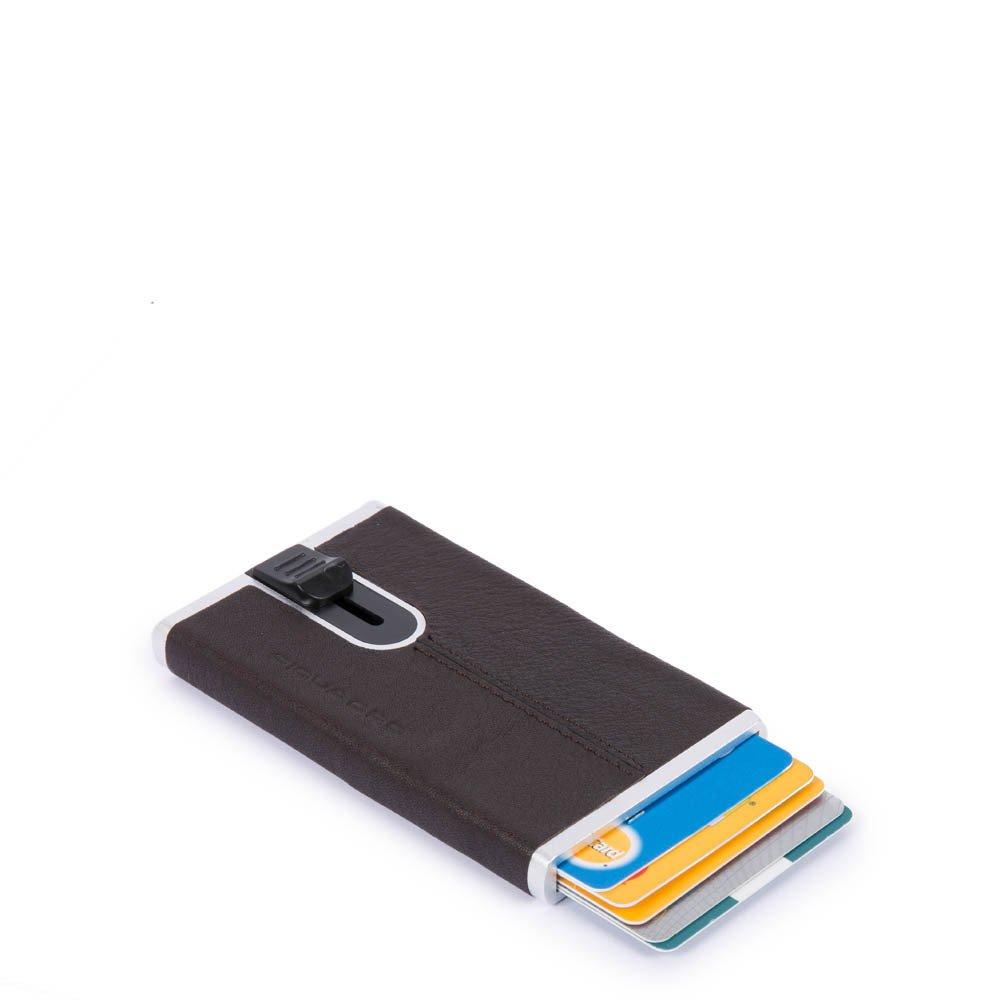 Piquadro Porta carte di credito con sliding system Black Square Testa di Moro