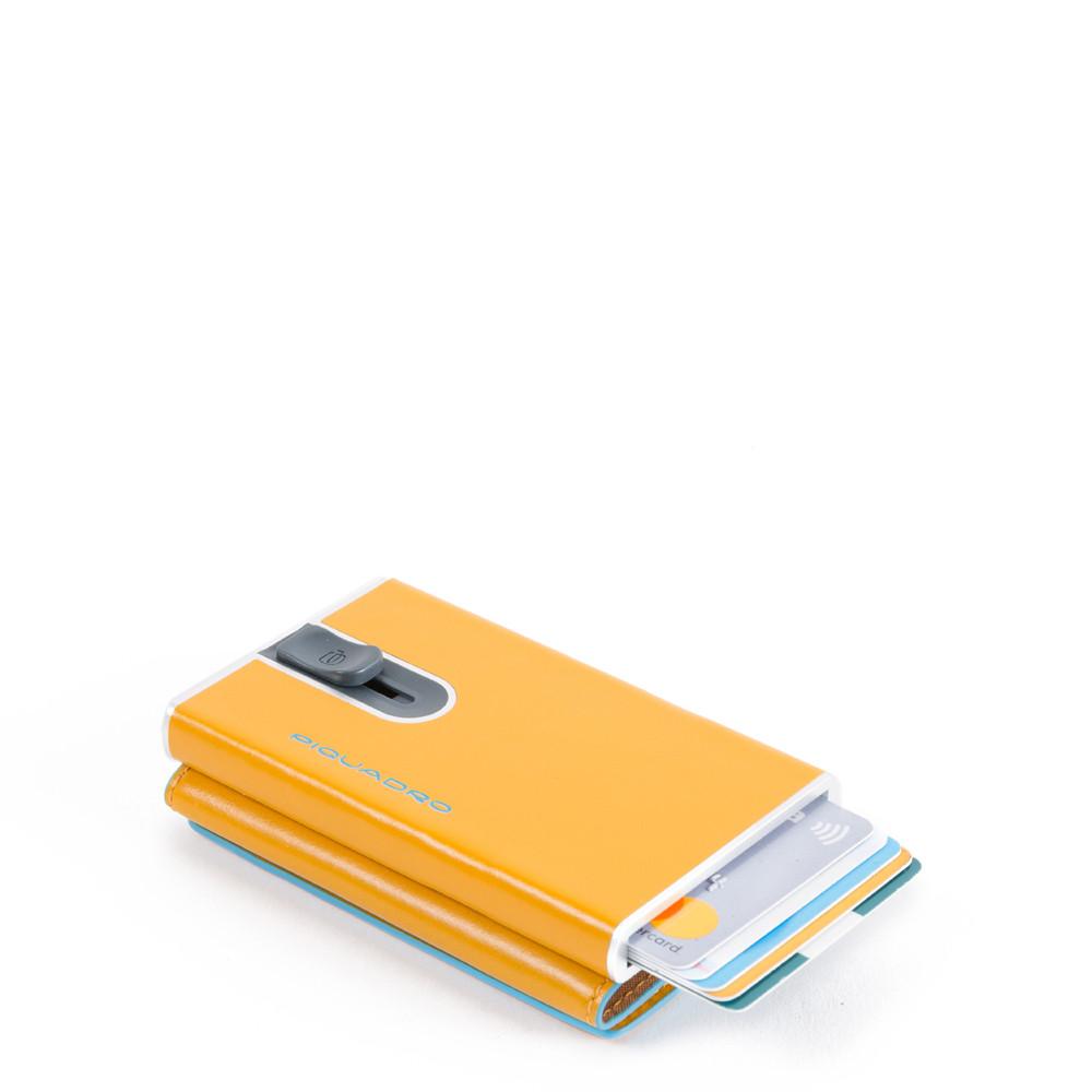 Piquadro Compact wallet per banconote e carte di credito Blue Square Giallo