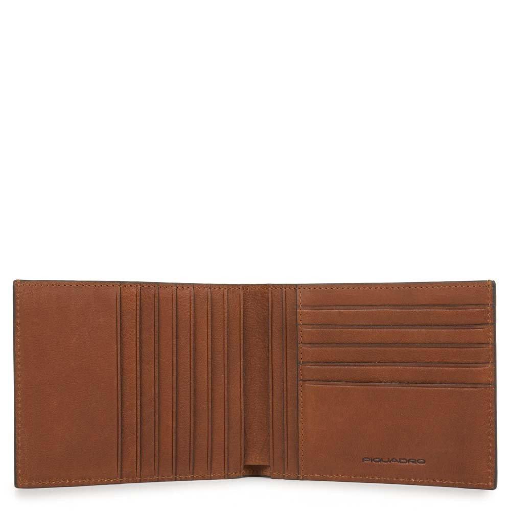 Piquadro Portafoglio uomo Black Square con dodici scomparti porta carte di credito e RFID Cuoio