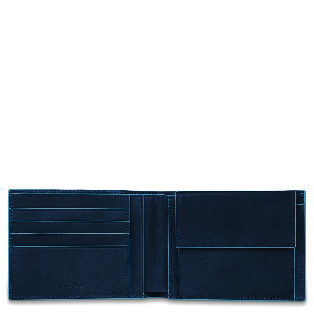 Piquadro Portafoglio uomo Blue Square con portamonete Blu