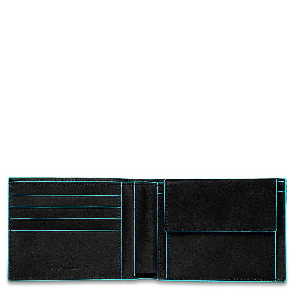 Piquadro Portafoglio uomo Blue Square con portamonete Nero
