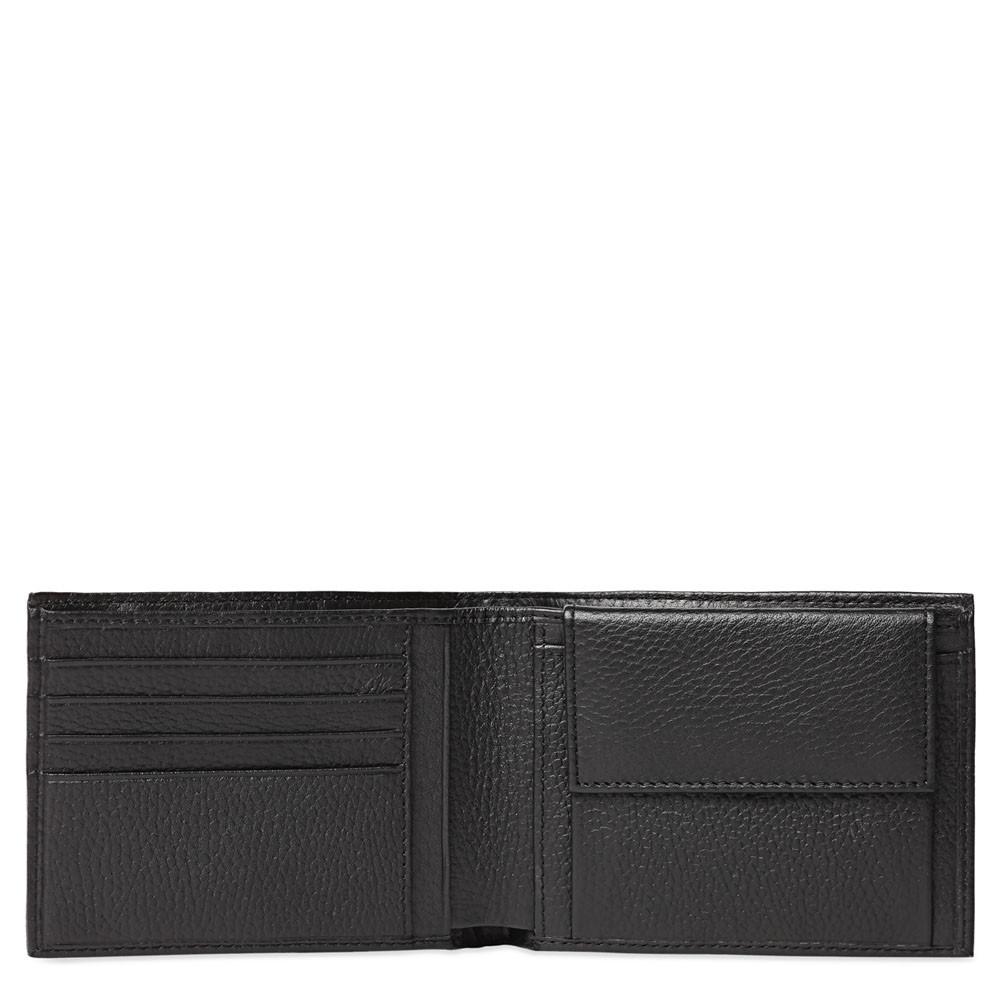 Piquadro Portafoglio uomo con portamonete Modus Nero