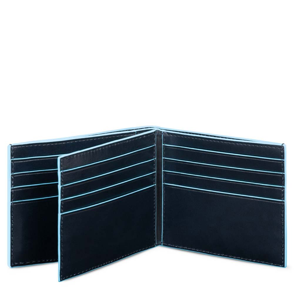 Piquadro Portafoglio Blue Square in pelle con tasche per carte di credito Blu2