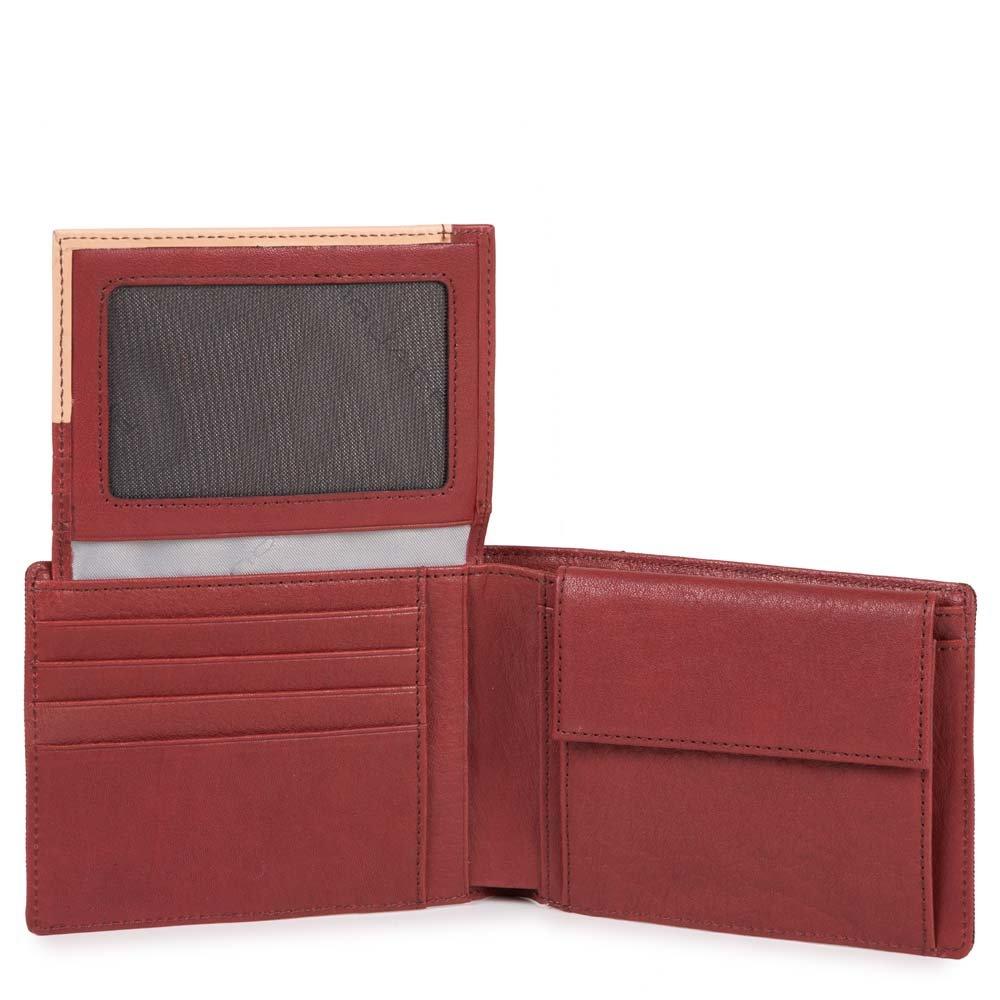 c9b7f470da Piquadro Portafoglio uomo Blade con porta documenti, portamonete e porta  carte di credito Rosso