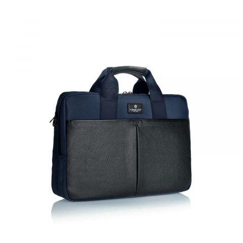 Ag Spalding & Bros Cartella 2 Zip Bark Nylon Blu