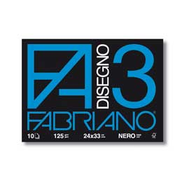 ALBUM 3 NERO 24X33CM FG 10 125GR FABRIANO