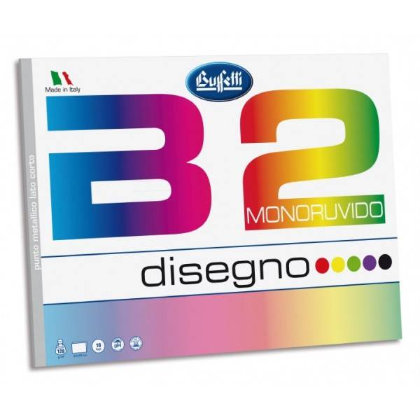 Album da disegno B2 Colore - f.to 24x33 cm - monoruvido - 10 fogli 128