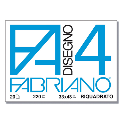 ALBUM FABRIANO4 33X48CM 220GR 20FG LISCIO SQUADRATO