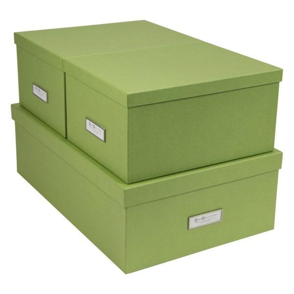 Bigso Set 3 scatole Inge Verde