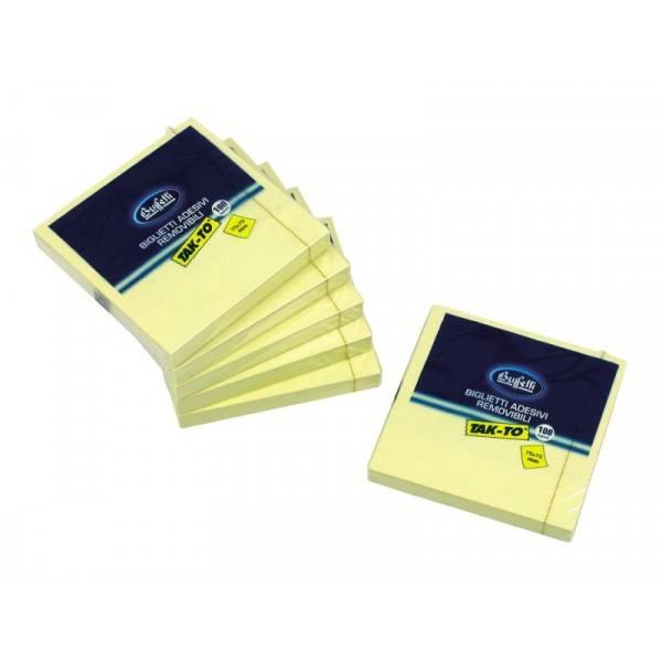 Blocchetti riposizionabili Tak To 75x75 mm giallo Buffetti