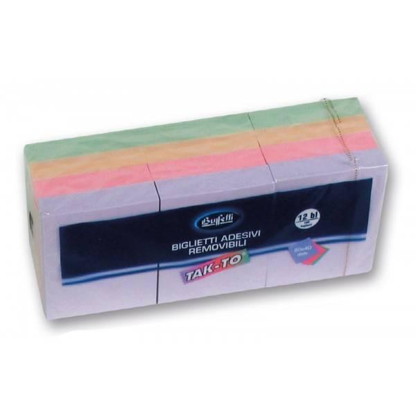 Blocchetti riposizionabili Tak To Harmony 40x50 mm colori assortiti Buffetti