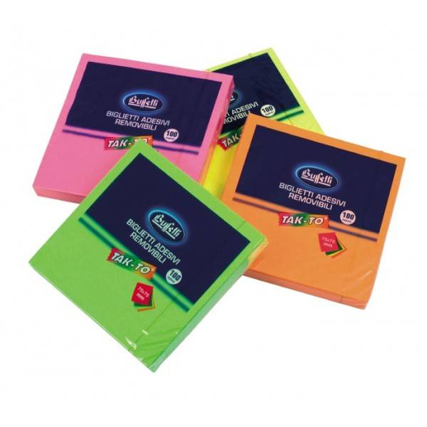 Blocchetti riposizionabili Tak To Neon 75x75 mm Buffetti