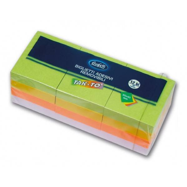 Blocchetti riposizionabili Tak To Spring 40x50 mm colori assortiti Buffetti