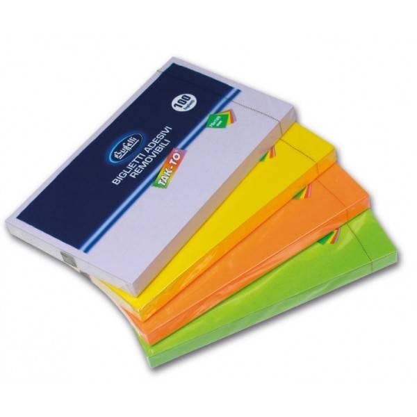 Blocchetti riposizionabili Tak To Spring 75x125 mm colori assortiti Buffetti