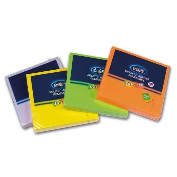 Blocchetti riposizionabili Tak To Spring 75x75 mm colori assortiti Buffetti