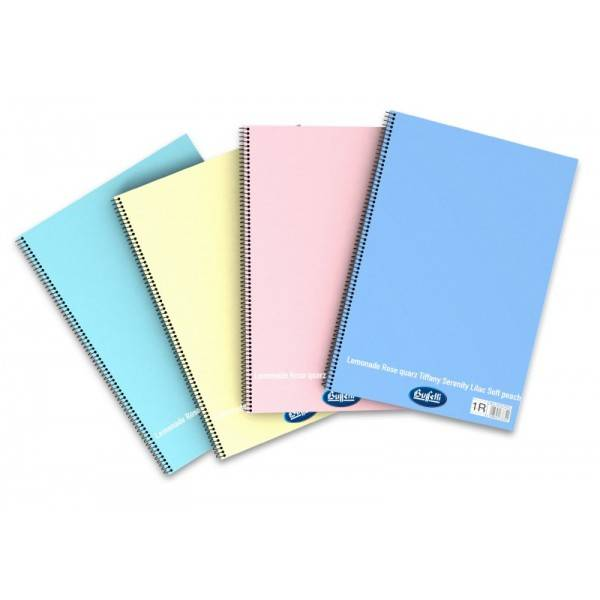 Blocchi notes Happy Color Pastello con spirale laterale A4 da 60 fogli 1 Rigo senza margine Buffetti