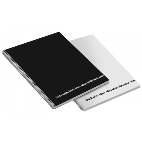 Blocchi notes spiralati Black&White A4 da 60 fogli a quadretti 5 mm senza margine Buffetti